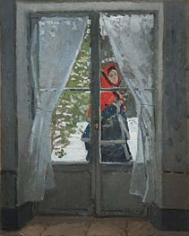 The Red Cape (Madame Monet), c.1870 by Monet | Painting Reproduction