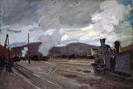 The Railroad Station at Argenteuil, 1872 by Monet | Painting Reproduction