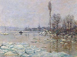 Le debacle - The Ice-Flows (Breakup of Ice), 1880 von Monet | Gemälde-Reproduktion