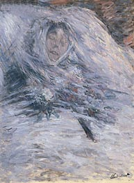 Camille Monet on her Deathbed, 1879 by Monet | Painting Reproduction