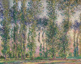 Poplars at Giverny, 1887 by Monet | Painting Reproduction