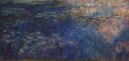 Water Lilies (Reflections of Clouds on the Water-Lily Pond), c.1914/26 by Monet | Painting Reproduction