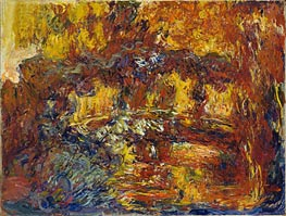 The Japanese Footbridge, c.1920/22 by Monet | Painting Reproduction