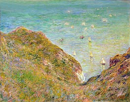 On the Cliff at Pourville, Clear Weather, 1882 by Monet | Painting Reproduction