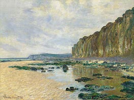 Low Tide at Varengeville (On the Cliff at Pourville), 1882 by Monet | Painting Reproduction