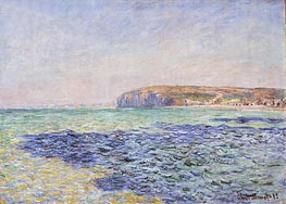 Shadows on the Sea, Pourville, 1882 by Monet | Painting Reproduction