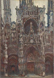 Rouen Cathedral, Evening, Harmony in Brown | Monet | Painting Reproduction