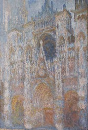 Rouen Cathedral, Blue Harmony, Morning Sunlight | Monet | Painting Reproduction