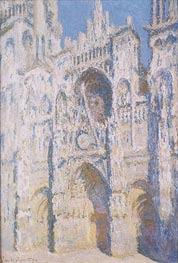 Rouen Cathedral in Full Sunlight: Harmony in Blue and Gold | Monet | Painting Reproduction
