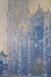 Rouen Cathedral, Harmony in White, Morning Light | Monet | Painting Reproduction