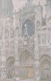Rouen Cathedral, the West Portal, Dull Weather | Monet | Painting Reproduction