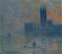 The Houses of Parliament (Effect of Fog) | Monet | Painting Reproduction