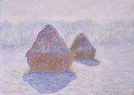 Haystacks (Effect of Snow and Sun) | Monet | Painting Reproduction