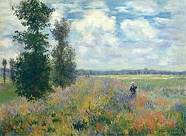 Poppy Fields near Argenteuil | Monet | Painting Reproduction