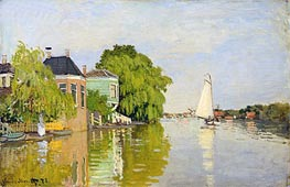 Houses on the Achterzaan | Monet | Painting Reproduction