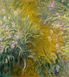 The Path through the Irises | Monet | Painting Reproduction