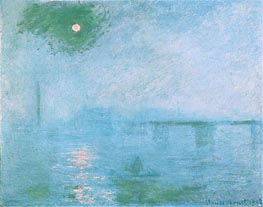 Charing Cross Bridge: Fog on the Thames | Monet | Painting Reproduction
