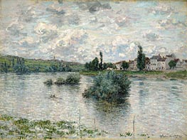 View of the Seine, Lavacourt | Monet | Painting Reproduction