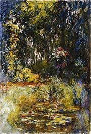 Corner of a Pond with Water Lilies | Monet | Gemälde Reproduktion