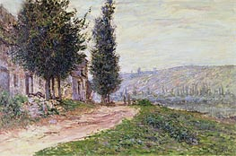 Riverbank at Lavacourt | Monet | Painting Reproduction