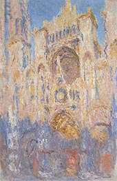 Rouen Cathedral, Effects of Sunlight, Sunset | Monet | Painting Reproduction