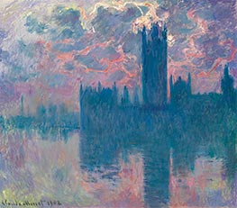 Houses of Parliament, Sunset | Monet | Painting Reproduction