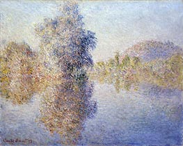 Early Morning on the Seine at Giverny | Monet | Painting Reproduction