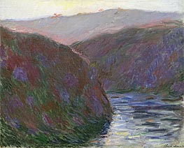The Creuse Valley, Evening Effect   Monet   Painting Reproduction