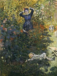 Camille and Jean in the Garden at Argenteuil   Monet   Painting Reproduction