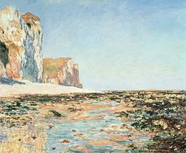 Seashore and Cliffs of Pourville in the Morning | Monet | Painting Reproduction