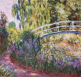The Japanese Bridge, Pond with Water Lilies | Monet | Painting Reproduction
