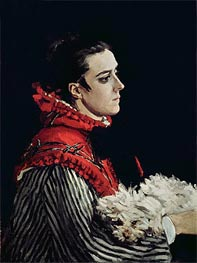 Camille Monet in a Red Cape, 1866 by Monet | Painting Reproduction