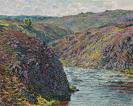 Ravines of the Creuse at the End of the Day | Monet | Painting Reproduction