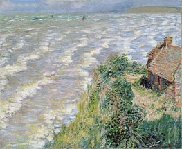 Rising Tide at Pourville | Monet | Painting Reproduction