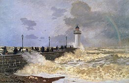 The Quay at Le Havre   Monet   Painting Reproduction