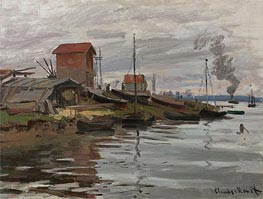 The Seine at Petit-Gennevilliers | Monet | Painting Reproduction
