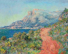 The Red Road near Menton | Monet | Painting Reproduction