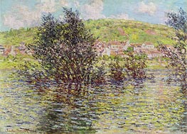 Vetheuil, View from Lavacourt | Monet | Painting Reproduction