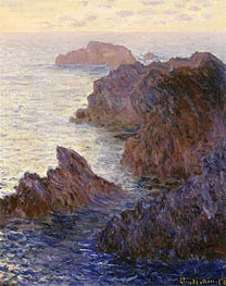 Rocky Point at Port-Goulphar | Monet | Painting Reproduction