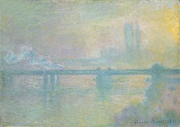 Charing Cross Bridge, London | Monet | Gemälde Reproduktion