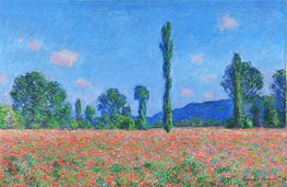 Poppy Field, Giverny   Monet   Painting Reproduction