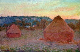 Stacks of Wheat (End of Day, Autumn) | Monet | Painting Reproduction