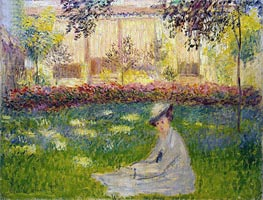 Woman in a Garden | Monet | Painting Reproduction