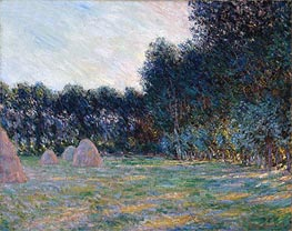 Meadow with Haystacks near Giverny | Monet | Painting Reproduction
