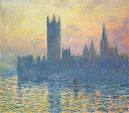 The Houses of Parliament, Sunset   Monet   Painting Reproduction