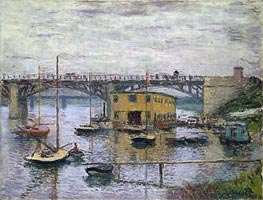 Bridge at Argenteuil on a Gray Day   Monet   Painting Reproduction