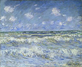 A Stormy Sea | Monet | Painting Reproduction