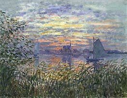 Marine View with a Sunset | Monet | Painting Reproduction