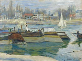 Barges at Asnieres | Monet | Gemälde Reproduktion