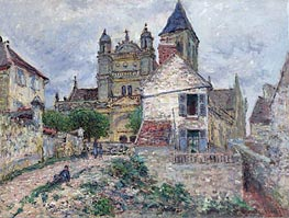 The Church af Vetheuil | Monet | Gemälde Reproduktion